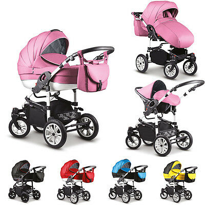SALE Baby Pram Stroller Car seat - Pushchair 3in1 Buggy swivel wheels Poussette