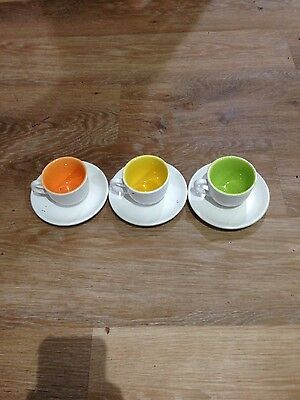 espresso cups and sausers set of 3