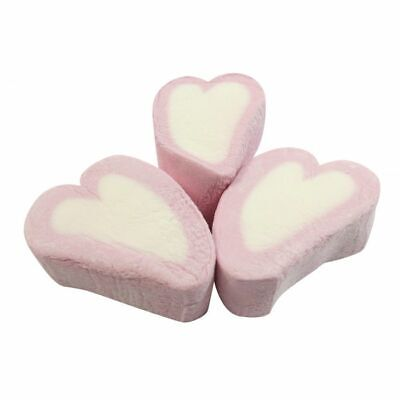 Small Pink Heart Mallow Marshmallow Wedding Valentine SWEETS Approx 50 per 100g