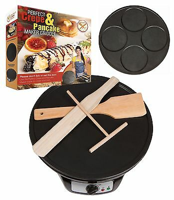 Perfect Crepe Maker and Pancake Maker, Electric Griddle Machine Makes Dosa, B...
