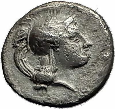 Thourioi in Lucania 350BC Athena Bull Authentic Ancient Silver Greek Coin i58966
