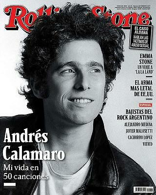 Andres Calamaro On Cover Rolling Stone Magazine Argentina New February