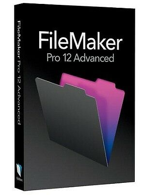 Filemaker Pro 12 Advanced For Windows & MAC - Official Genuine Full Version