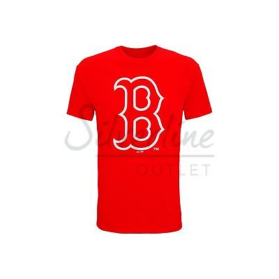 Boston Red Sox Large Logo T-Shirt Official Licensed American Baseball Sports Tee