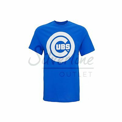 Chicago Cubs Large Logo T-Shirt Official Licensed Baseball Tee - Fan Sports Top