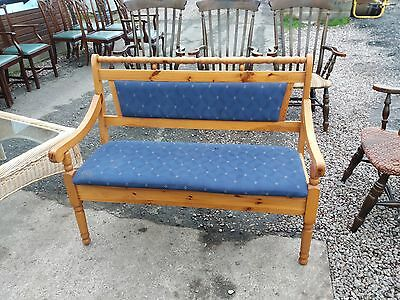 Pine Settle / Bench With Storage Delivery Available