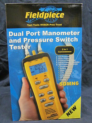 Fieldpiece Dual Port Manometer & Gas Pressure Switch Tester (Sdmn6)