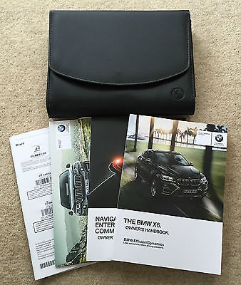 Bmw X6 F16 Genuine Owners Manual Handbook Pack With Wallet 2014-2015 #2887