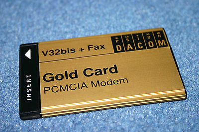 New PSION DACOM Gold Card Global PC Card V32bis + Fax  PCMCIA Laptop CardBus