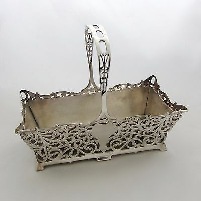 Mint Antique Forbes Silver Co. Silverplate Reticulated Basket