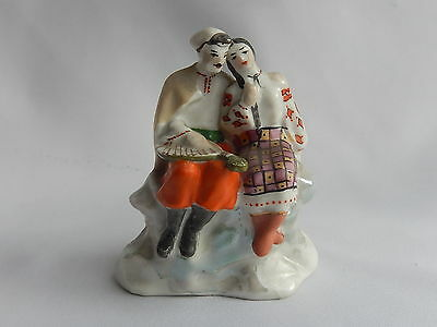 Ancien Couple de Porcelaine de Russie
