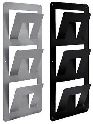 Magazine Rack Wall Container Newspapers Hotel Metal Stainless Steel
