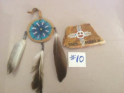 American Indian Small Painted Stone & Shield