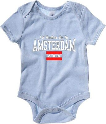 Baby Bodysuit TSTEM0177 id rather be in amsterdam