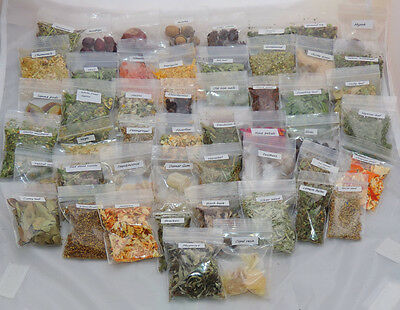 Witches starter set Pagan spell kit 50 herbs resins ingredients & their uses