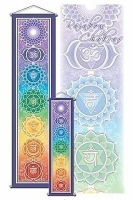 Chakra Banner Affirmation Wall Hanging NEW Poster Scroll Mandala Meditation