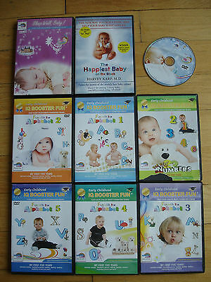 Baby IQ 9 DVD Lot Learn Baby 1 2 3 4 5 year old Sleep Numbers Letters Vocabulary