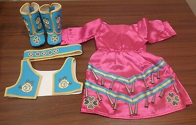 """AMERICAN GIRL KAYA JINGLE DRESS OF TODAY NEW IN BOX RETIRED AUTHENTIC for 18"""""""