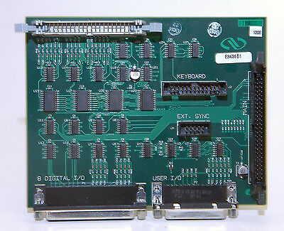 NEWPORT XPS MOTION CONTROLLER KEYBOARD and DIGITAL I/O BOARD,  E3436B1 w/ CABLES
