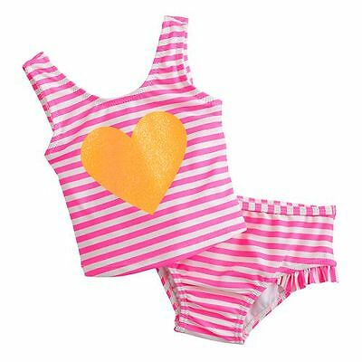 Carter's Heart~Striped Girls 2PC UPF +50 UV Protection Swimsuit Tankini NWT