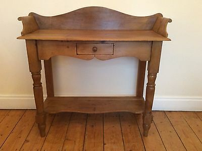 Victorian pine wash stand hall table