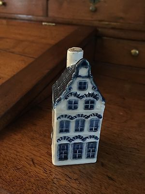 Vintage KLM Holland Blue Delft Porcelain House (Empty) #17 Rynbende Distilleries