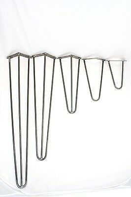 "Hairpin metal  table Legs-Set 4 ,Retro,Bench,desk,size 8""-36"" Industrial,steel"