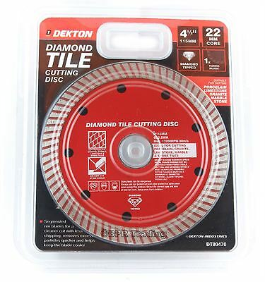 115mm Turbo Tile Diamond Cutting Disc Angle Grinder Blade Porcelain Stone 4.5""