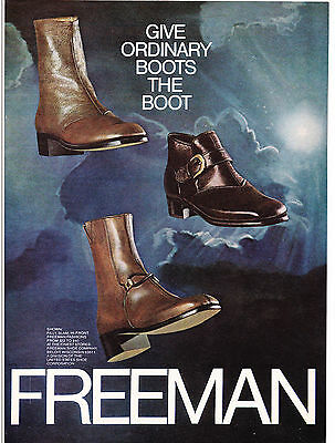 Original Print Ad-1972 Give Ordinary Boots The Boot-FREEMAN SHOE COMPANY/Clouds