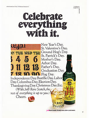 Original Print Ad-1969 Celebrate Everything With It-Rare J&B Scotch-Calendar