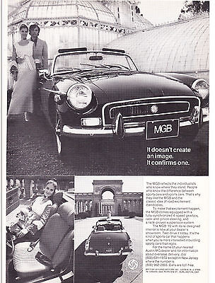 Original Print Ad-1972 MGB-It doesn't create an image. It confirms one.  IMAGES