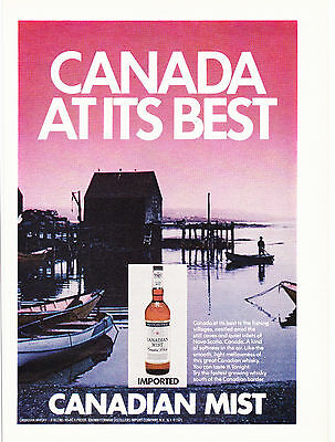 Original Print Ad-1972 IMPORTED CANADIAN MIST-CANADA AT ITS BEST-Fishing Village