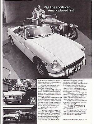 Original Print Ad-1972 The sports car America loved first. MG-TC & MGB Photos