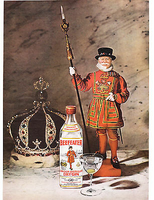 Original Print Ad-1969 BEEFEATER LONDON DISTILLED DRY GIN-COLOR PHOTO AD-No Text