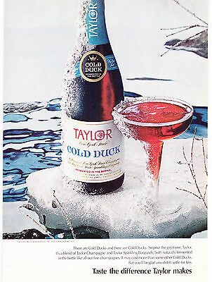 Original Print Ad-1971 TAYLOR WINE-COLD DUCK-Taste the difference Taylor makes.