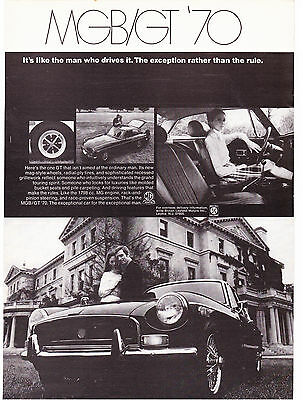 Original Print Ad-1970 The Exception Rather Than The Rule-MGB/GT '70-Cool Photos