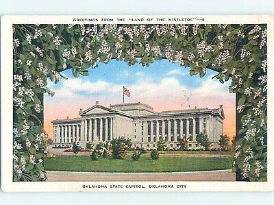 Unused W-Border CAPITOL BUILDING Oklahoma City Oklahoma OK p0225