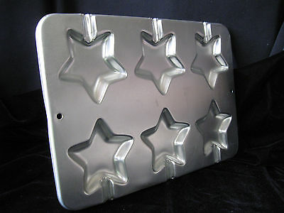 Wilton Star Pops Cookie Pan 6 Cookie Pops OR CANDY STAINED GLASS Christmas STAR
