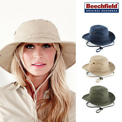 Beechfield Outback Hat - UPF50+ protection Summer hat for holiday/safari B789