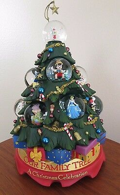 Disney Lighted & Musical Christmas Tree Tabletop Sculpture Holiday ...