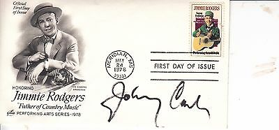 Johnny Cash Autographed U.s.a. First Day Cover