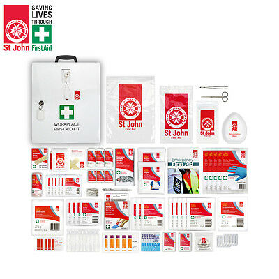 St John - National Workplace Metal Cabinet / Wall-mount First Aid Kit - 677501