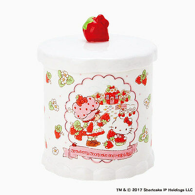 Hello kitty x Strawberry Shortcake Cotton Box case Limited series From Japan