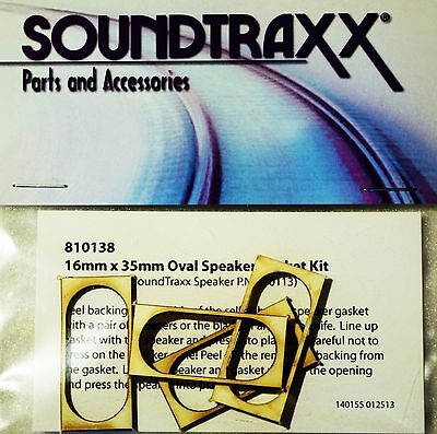 Soundtraxx 35mm  x 16mm oval gasket kit ideal for oval speaker P.N. 810113