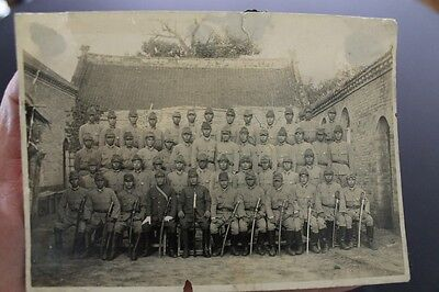 WW2 Japanese photo large Army swords group Officers soldiers China
