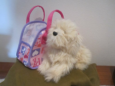 Fur Real Friend Teacup Pets Maltese Pup with carrier