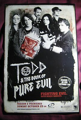Todd & The Book Of Pure Evil TV Show Poster Canada Fan Expo Comic Con