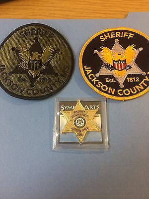 Set of Jackson County MS Sheriff's Office Patches/ Challenge Coin - Symbol Arts