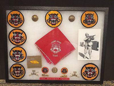 WW 2 Tank Destroyer Forces Patch Display - Camp Fort Hood Texas