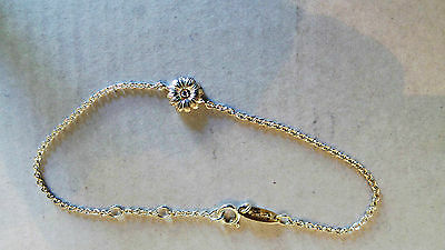 Thomas Sabo Sweet Diamonds Sterling Silver And 14 Ct Gold Bracelet